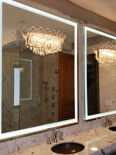 Beveled Mirror With Led Light