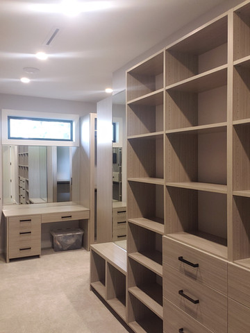 Custom Closet With Makeup Desk