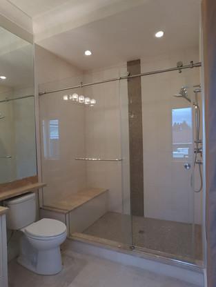 Custom Shower With Sliding Door