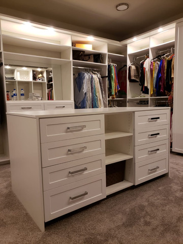 Custom closet with Island