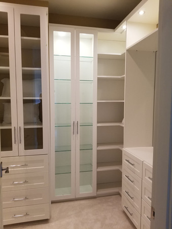 Glass door with drawers