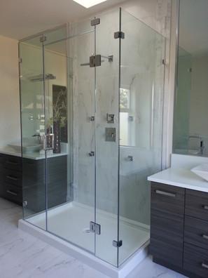 2 side panel return shower door