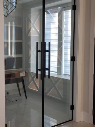 Office Door With Matte Black