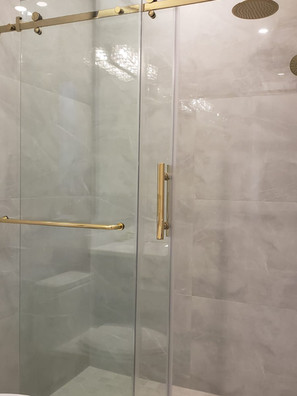 Gold Hardware Sliding Door