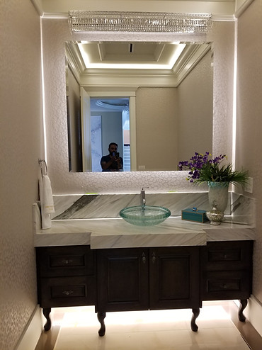 Beveled Mirror With Back Light