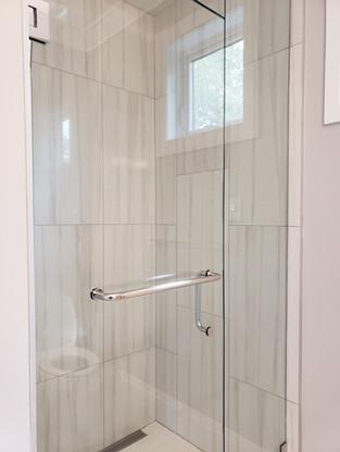 shower door combo towel bar