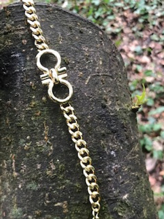 Yellow gold plated bracelet,with extention chain.