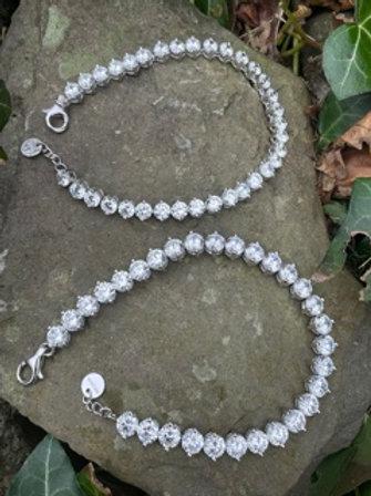 Sterling silver tennis bracelet,with Swarovski.