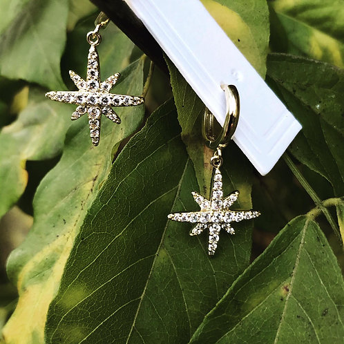 FASHION EARRING WITH CRYSTAL STAR.