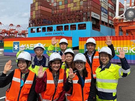 Contêineres arco-íris chegam a Yokohama para celebrar a diversidade