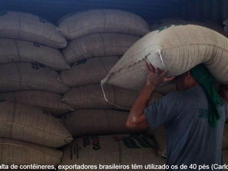Falta de containers prejudica exportação de café