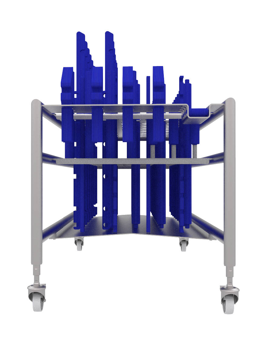 EC14 PARTS TROLLEY FRONT VIEW