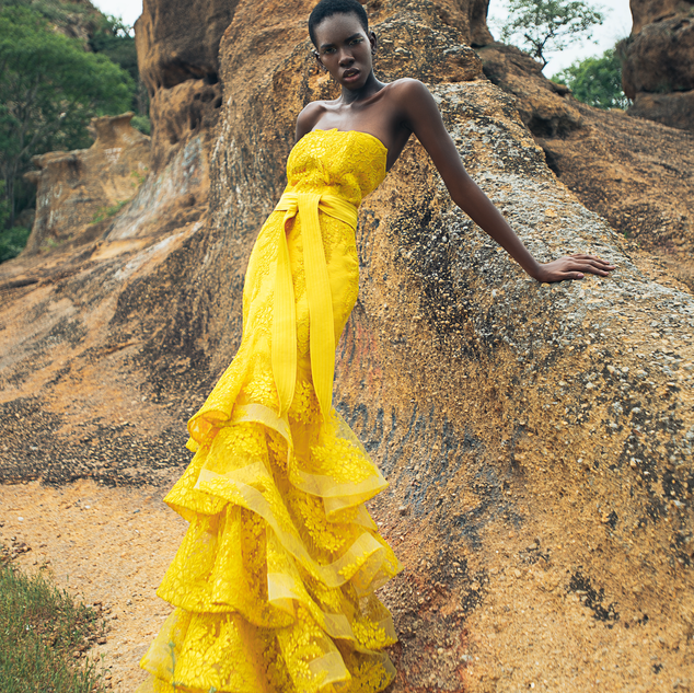 Yellow Val dress