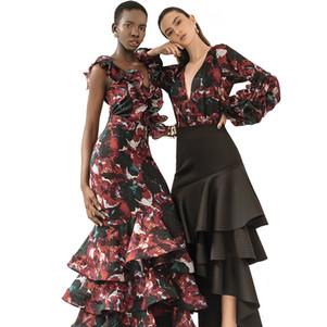 Nella Bodysuit & skirt / Cora Bodysuit & black Mika Skirt