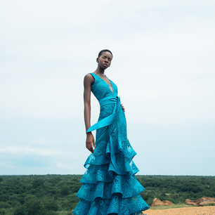 Turquoise Val dress
