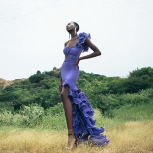 Purple Gergia dress