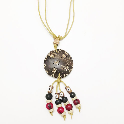 Necklace - Coconut & Seeds - Star 6
