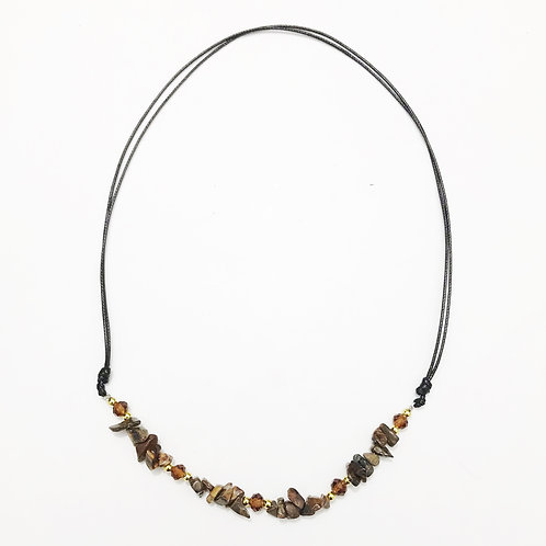 Necklace - Amazonian Stone - Brown