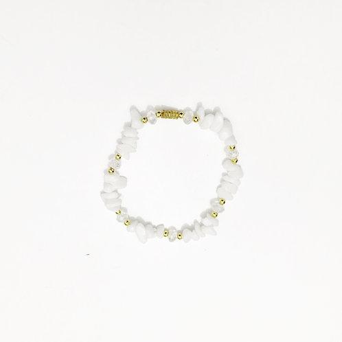 Bracelet - Amazonian Stone - White