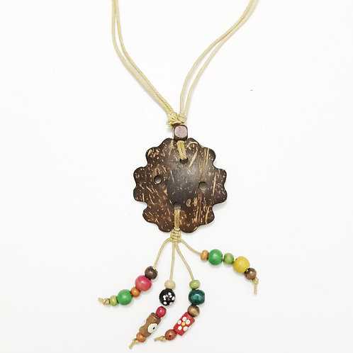 Necklace - Coconut & Seeds - Star 5