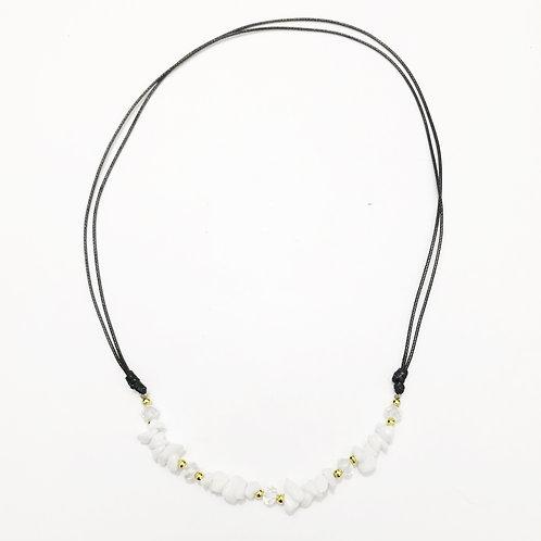 Necklace - Amazonian Stone - White