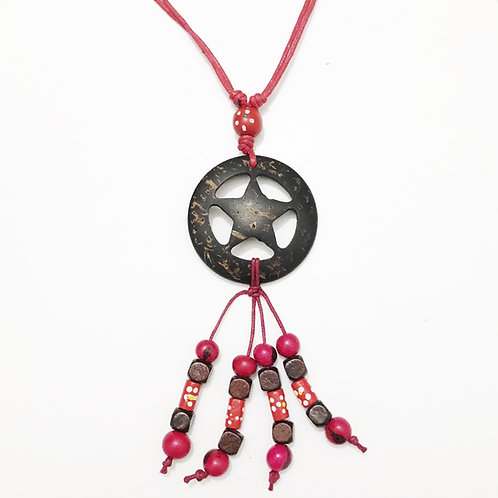 Necklace - Coconut & Seeds - Star 1