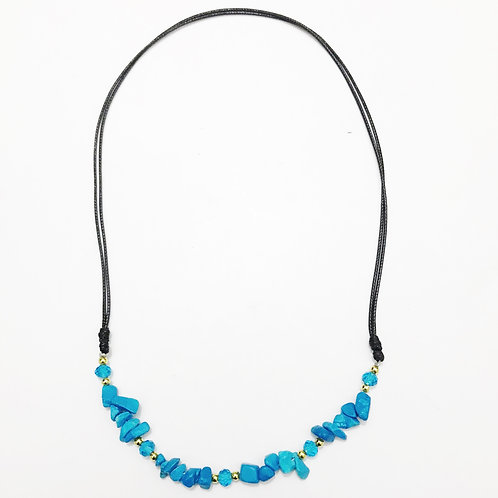 Necklace - Amazonian Stone - Turquoise