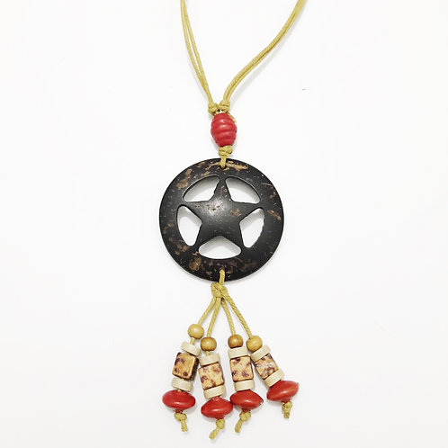 Necklace - Coconut & Seeds - Star 3