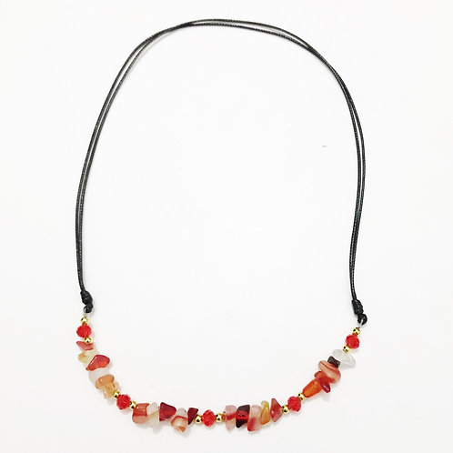 Necklace - Amazonian Stone - Red