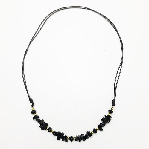 Necklace - Amazonian Stone - Black