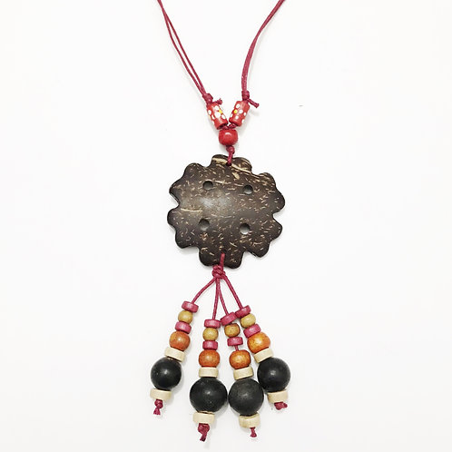 Necklace - Coconut & Seeds - Star 4