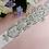 Thumbnail: Ceinture de mariage cristaux et perles blanches
