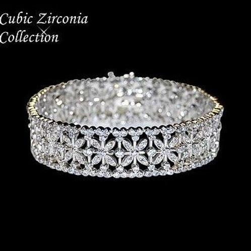 """Bracelet de mariage vintage """"Fleurs"""""""