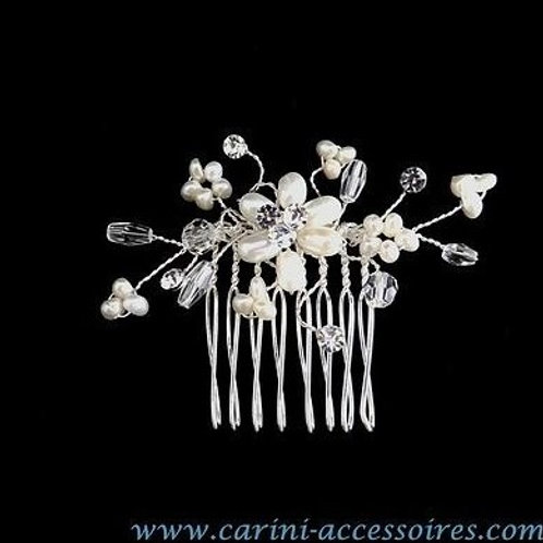 """Peigne en perles et cristaux Swarovski """"Délicat"""""""