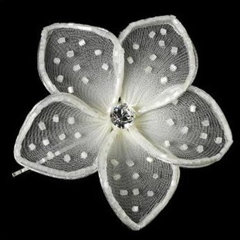 "Epingle avec perles ""Fleurs"""