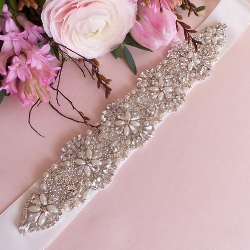Ceinture de mariage en perles et strass