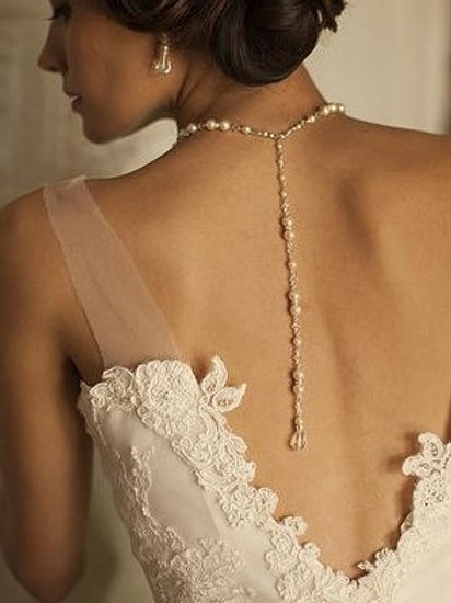 """Parure en perles et cristaux """"Lariat"""""""