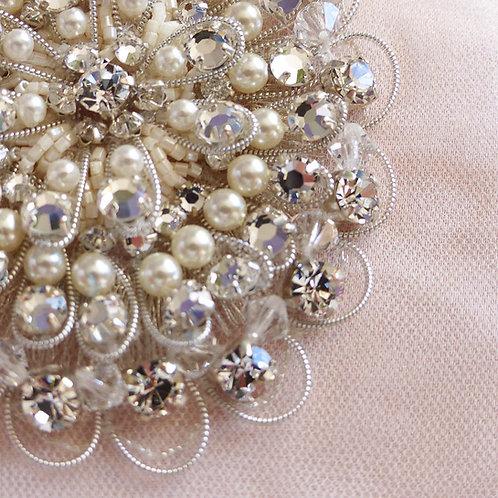 Ceinture de mariage perles et cristaux Swarovski