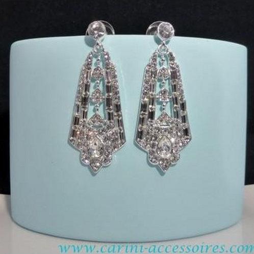 "Boucles d'oreilles de mariage chandeliers ""Queen"""