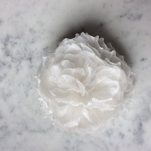 Fleur en organza de soie