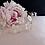Thumbnail: Vigne or avec fleurs, perles et cristaux Swarovski