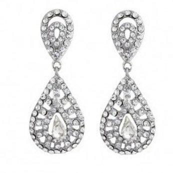 """Boucles d'oreilles de mariage avec cristaux """"Emma"""""""