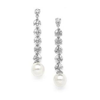Boucles d'oreilles avec perles d'eau douce