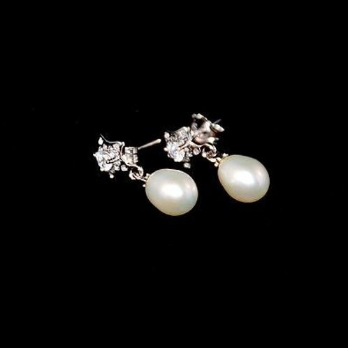"""Boucles d'oreilles en argent avec perles """"Emilie"""""""