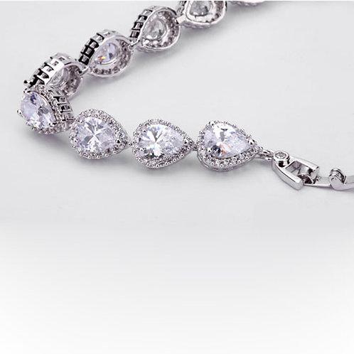 Bracelet zircon AAA+ en forme de goutte
