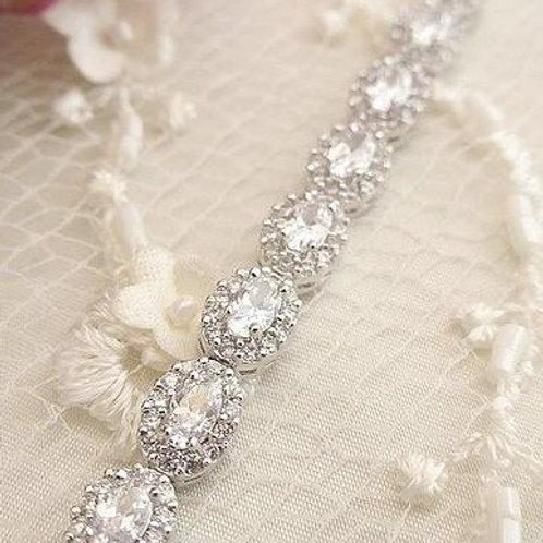 "Bracelet en plaqué or blanc ""Dana"""