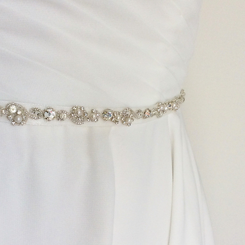 Ceinture de mariage en perles et cristaux