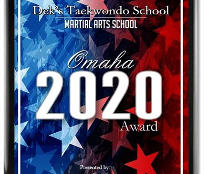 Dek's Taekwondo School Receives 2020 Omaha Award