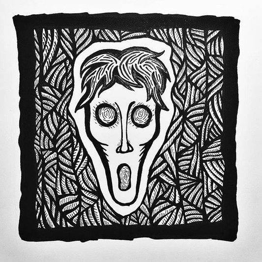 Scream Inspired by #linocut prints lately. ._._