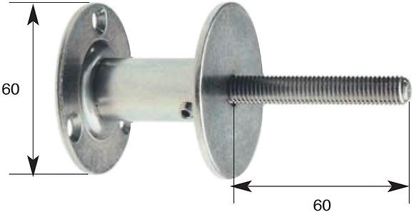 Handlaufstütze mit M 10-Gewinde